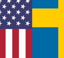 USA & Sweden  Sticker