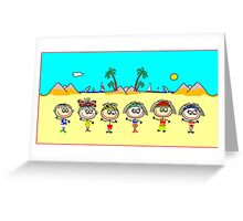 Funny People Boys and Girls Greeting Card