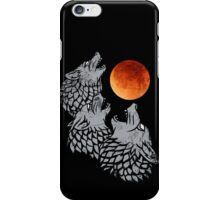 Wolves howling at moon iPhone Case/Skin