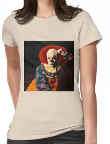 Pennywise painting Womens Fitted T-Shirt