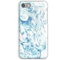 Girl sleeping on train iPhone Case/Skin