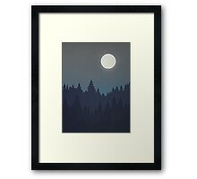 Tree Line - Grey Framed Print