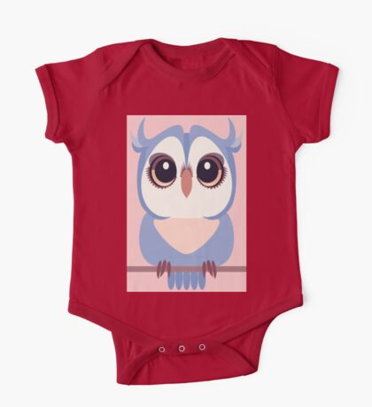 BABY BLUE OWLET One Piece - Short Sleeve