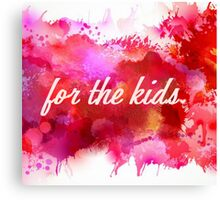 Watercolor For the Kids Canvas Print