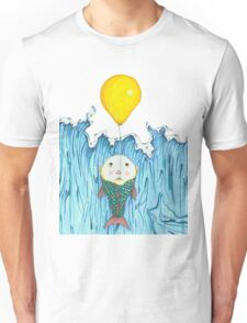 Fish Escapes Ocean by Balloon Unisex T-Shirt
