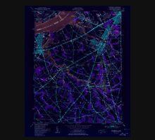 USGS TOPO Map New Jersey NJ Woodbury 255004 1951 24000 Inverted Unisex T-Shirt