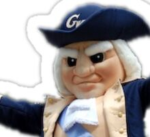 GW George Washington Mascot Sticker