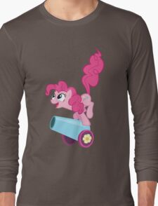 PINKIE PIE WITH CANNON Long Sleeve T-Shirt