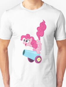 PINKIE PIE WITH CANNON Unisex T-Shirt