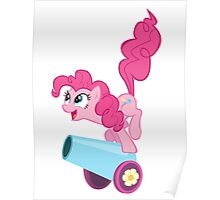 PINKIE PIE WITH CANNON Poster