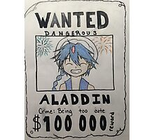 Wanted: Aladdin Photographic Print