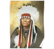 American Indian War Chief Poster