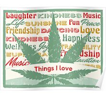 Cannabis Leaf Feelings Poster