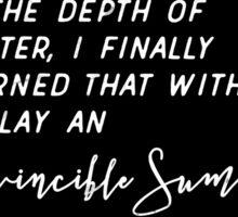 Invincible Summer Sticker