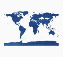 sdd World Map 1J One Piece - Short Sleeve