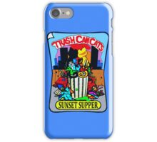 Trash Can Cats - Sunset Supper iPhone Case/Skin