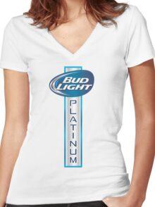 Bud Light Platinum Women's Fitted V-Neck T-Shirt
