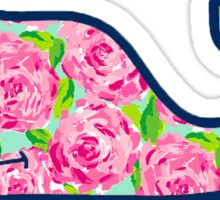 preppy rose whale Sticker