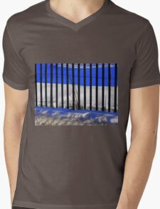 Fence Mens V-Neck T-Shirt