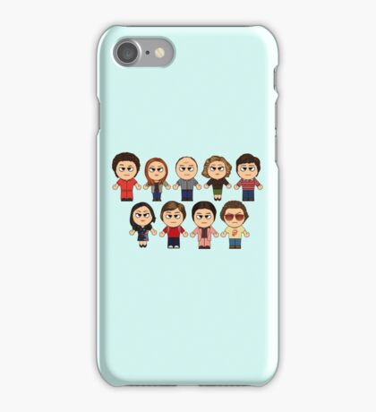THAT 70'S SHOW - MAIN CHARACTERS CHIBI - MANGA 70'S SHOW iPhone Case/Skin