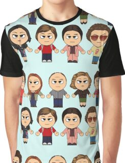 THAT 70'S SHOW - MAIN CHARACTERS CHIBI - MANGA 70'S SHOW Graphic T-Shirt