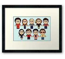 THAT 70'S SHOW - MAIN CHARACTERS CHIBI - MANGA 70'S SHOW Framed Print