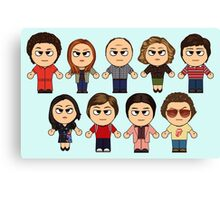 THAT 70'S SHOW - MAIN CHARACTERS CHIBI - MANGA 70'S SHOW Canvas Print