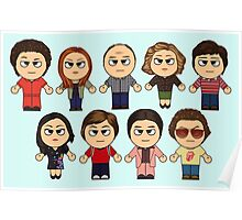 THAT 70'S SHOW - MAIN CHARACTERS CHIBI - MANGA 70'S SHOW Poster