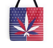 USA Cannabis and Marijuana Leaf Tote Bag