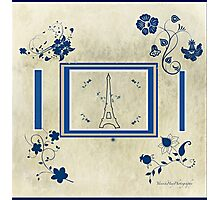 French Eiffel Flowers Photographic Print