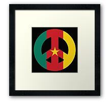 Cameroon Peace Symbol Framed Print