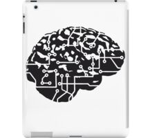 cyborg brain machine computer science fiction microchip intelligence brain design cool robot black iPad Case/Skin