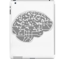 cyborg brain machine computer science fiction microchip intelligence brain design cool robot iPad Case/Skin