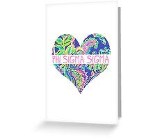 Heart Phi Sig Greeting Card