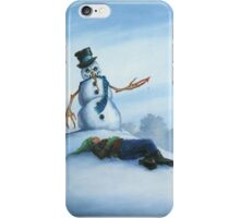 Don't F**k With Frosty, For He Can Really Ruin That Holiday Spirit! iPhone Case/Skin