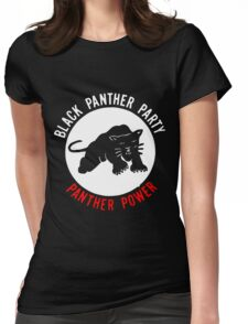 THE BLACK PANTHER PARTY Womens Fitted T-Shirt