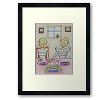 Milk and Cookies Framed Print