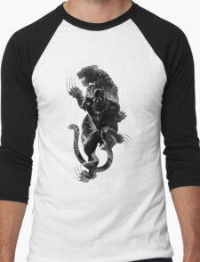 Black Panthera Men's Baseball ¾ T-Shirt