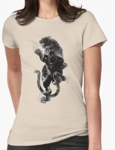 Black Panthera Womens Fitted T-Shirt