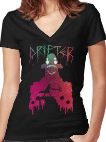Hyper Light Drifter - Stencil  Women's Fitted V-Neck T-Shirt
