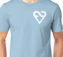 A Love Ever-present (heart only, left chest, white) Unisex T-Shirt