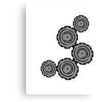 cool gears circular globe pattern design technology swirls cool futuristic Canvas Print
