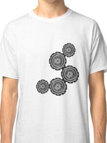 cool gears circular globe pattern design technology swirls cool futuristic Classic T-Shirt