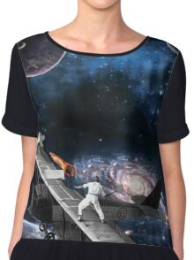 Space Tennis Chiffon Top