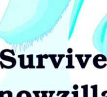 Snowzilla Sticker