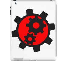 cool cogs design engine clockwork turn mechanically logo iPad Case/Skin