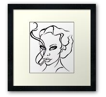 Woman with cigarette. Framed Print