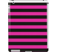 Pink and Black Banded Design  iPad Case/Skin