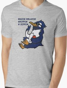 Cool Penguin Quote Mens V-Neck T-Shirt