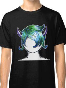 Transparent Horned Girl Classic T-Shirt